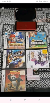 Nintendo ds lite with 6 games and charger Toronto, M1W 2K7