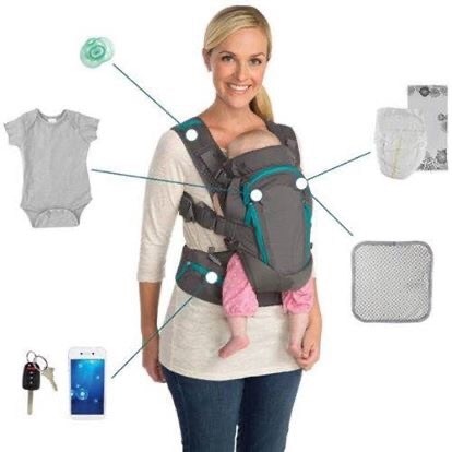 Photo Infantino's versatile Carry On Multi-Pocket baby Carrier