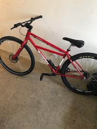 red and black hardtail mountain bike New York, 11213