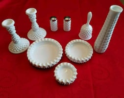 Vintage Milk Glass - 9 Pieces