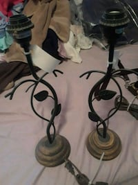 two black metal candle holders Willoughby Hills, 44092