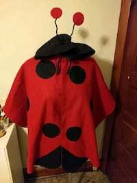 Lady bug costume cape with hood Elmer, 08318