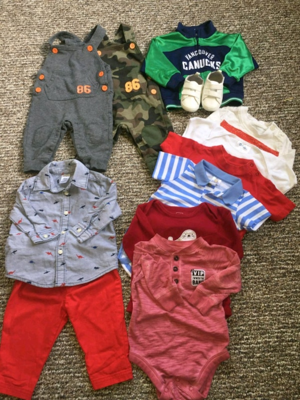 toddler's assorted clothes 6_9 months