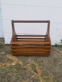 Wooden Book/Magazine Rack/Crate