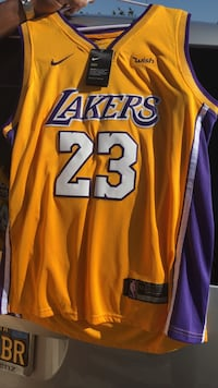 yellow and purple Lakers 24 jersey shirt Ontario, 91761