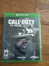 Xbox one Call of Duty ghost game case Orford, J1X 6Z6