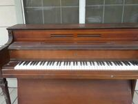 brown wooden framed upright piano Willis, 77378