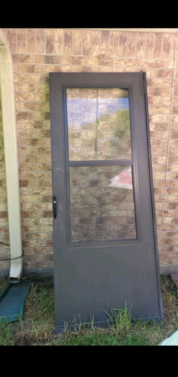 32x80 Glass Screen Door