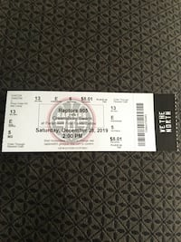 Raptor 905 game 8 tickets for sale on December 28 at 2:00 pm