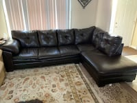 Dark Brown Faux Leather Sectional Herndon, 20170