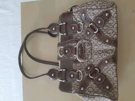Guess gold and brown hand bag