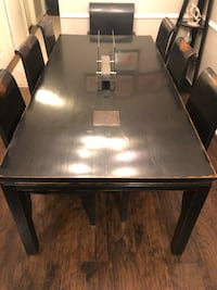 Black Painted Wood table with 8 chairs Falls Church, 22046