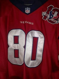 red NFL Houston Texans 80 jersey top