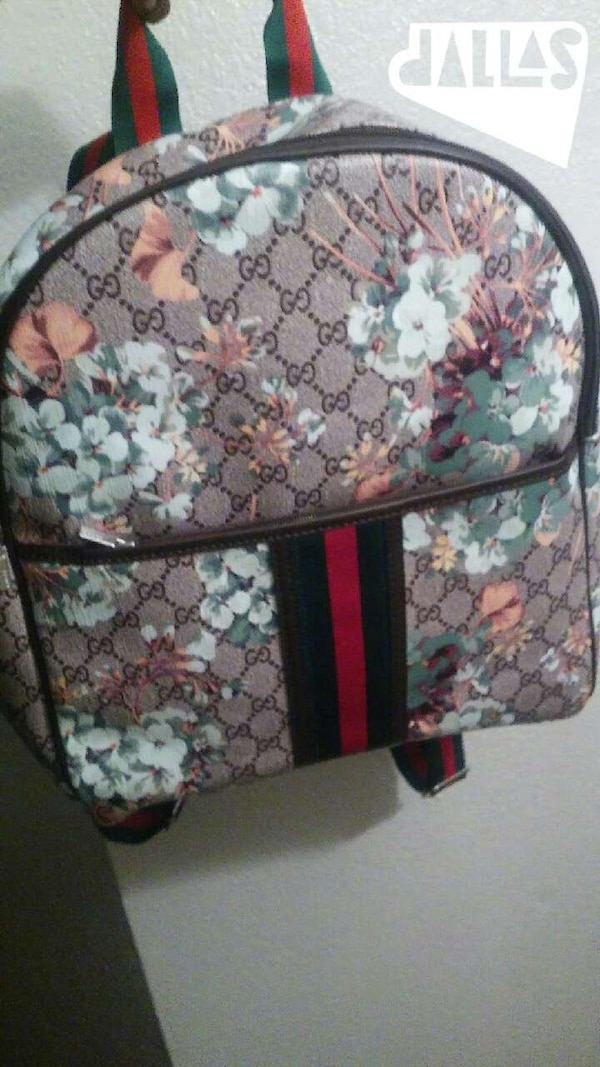 5506ddce318054 Used gucci pink and white floral backpack for sale in Grand Prairie ...