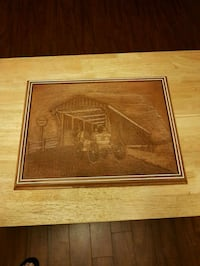 brown wooden framed painting of house St. Catharines, L2M 3T5