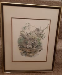 Glen Loates Framed Print - Charming print of Racoons at play. Professi Newmarket