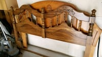 brown wooden headboard and footboard Winnipeg, R2P