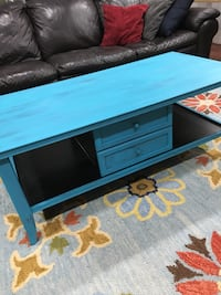 Blue and Black Solid Wood Coffee Table  Quincy, 02169
