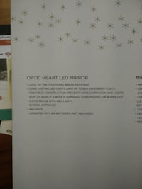 OPTIC HEART LED MIRROR New Westminster