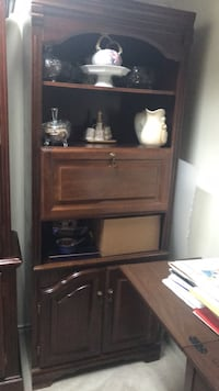 Dark Brown Solid wood Cabinet in very good condition$50obo Coquitlam, V3E