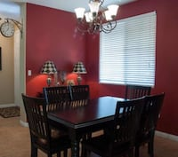 Black wooden dining table set from World Market.  Bakersfield, 93308