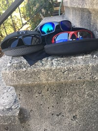 Three pairs of Oakley in excellent condition in the case one of the oh please you could change the lenses included New Haven, 06511