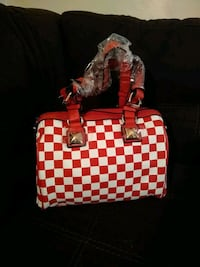 Checker tote handbag brand new