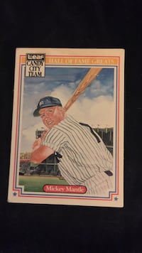 mickey mantle collectible card