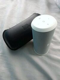 white and black portable speaker Queens, 11435