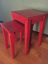 Pottery Barn  red distressed nesting tables. Perfect Condition! Apopka, 32712