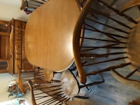 brown wooden table with chairs ALACHUA