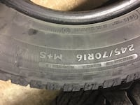 245/70/16 winter tires 2 pcs