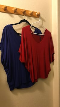 women's red and blue blouse Greenfield, 93927