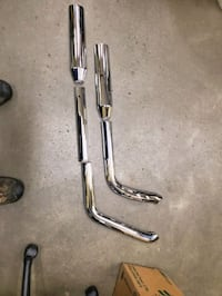 2004 softail pipes and heat shields