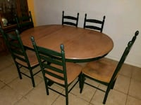 brown wooden dining table set Pembroke Pines, 33027