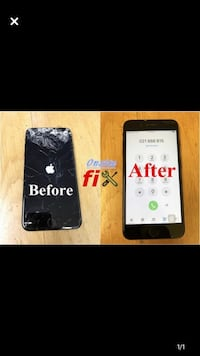 Phone screen repair I fix all broken phones iphone 4,4s,5,5c,5s,6,6+,6s,6sq+,7,7+,8,8+,x and all samsung phones repairs
