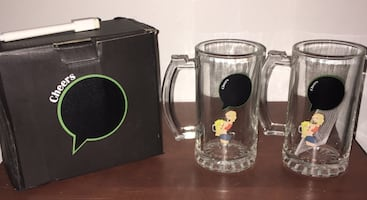 2 Piece Set Glasses/ Mugs Unique Gift Pick Up in Columbia