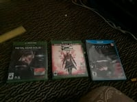 2 Xbox one games, (metal gear solid he's going to  Redding, 96002