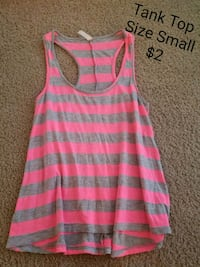 pink and grey stripe tank top Fort Bragg, 28307