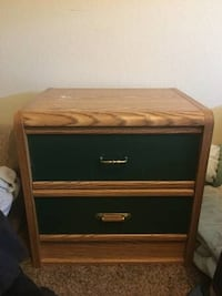 Green and Brown Nightstand  Arcade, 95608