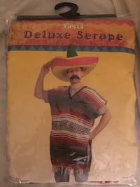 Unused Mexican Serape Halloween costume Burke, 22015