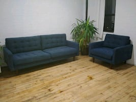 Crate and Barrel Sofa and Chair