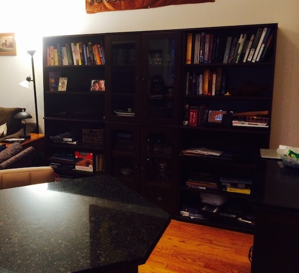 Ikea Cabinet Sale: Used 1 IKEA Cabinet With Glass Doors For Sale In