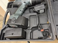 Gray and black cordless 18 V power drill, with hard case Houston, 77070