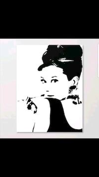 Large audrey Hepburn canvas  Whitby, L1N 8X2