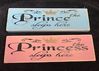 two white and pink Prince and Princess posters Orangeville, L9W 3S6