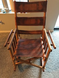 Mid century Costa Rican foldable rocking chair