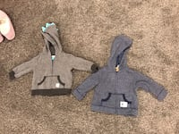 Size 6m hoodies fleece inside use twice the most Excellent condition  Boyds, 20871