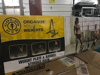 Gold's Gym Weight Plate & Barbell Storage Rack West Point, 40177
