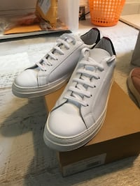 White Leather Ambleside Low-Top Sneakers by Oliver Spencer 6735 km